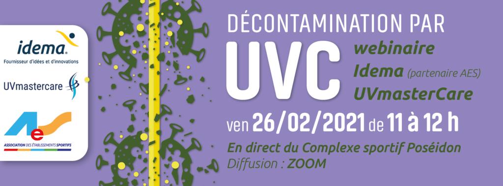 Wébinaire Association des établissements sportifs sur la Décontamination par UVC UVmastercare