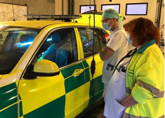 ambulance avec UVMasterCare