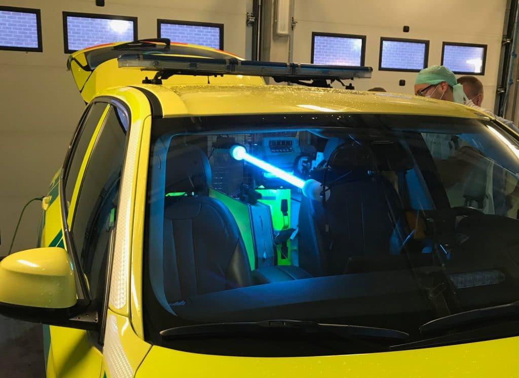 décontamination UVC Ambulances